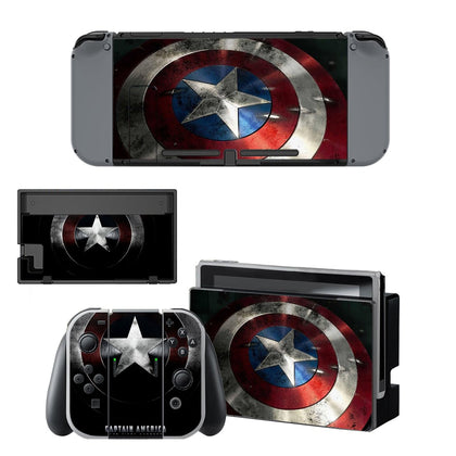 Nintendo Nintendo Switch Captain America Skin Sticker - Superhero Vinyl