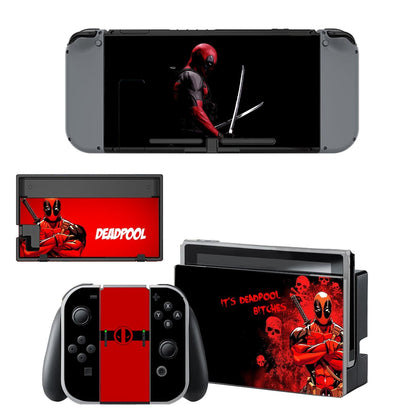 Nintendo Nintendo Switch Deadpool Skin Sticker - Superhero Vinyl