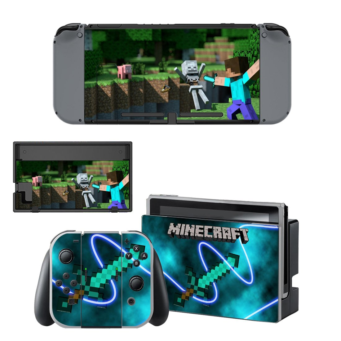 Minecraft Nintendo Switch Skin Sticker Wrap