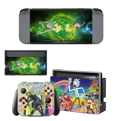 Nintendo Nintendo Switch Rick And Morty Skin Sticker - Anime Vinyl