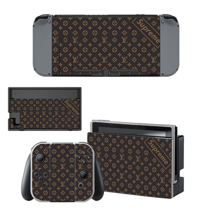 Nintendo Nintendo Switch Louis Vuitton Monogram Supreme  Skin Sticker - Popculture Vinyl