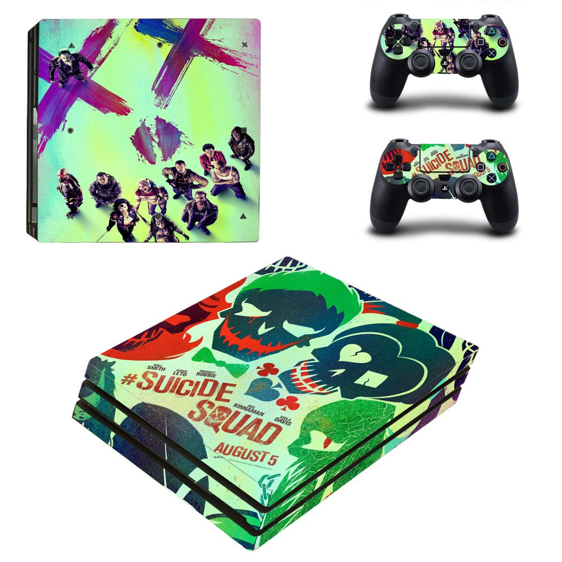 Suicide Squad PS4 Pro Skin Sticker Wrap