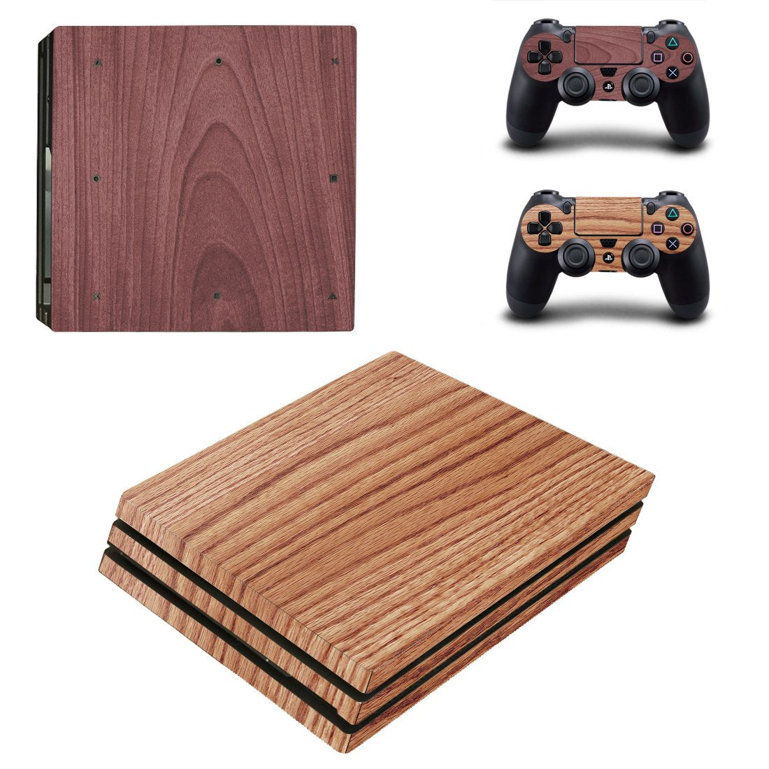 Wood PS4 Pro Skin Sticker Wrap