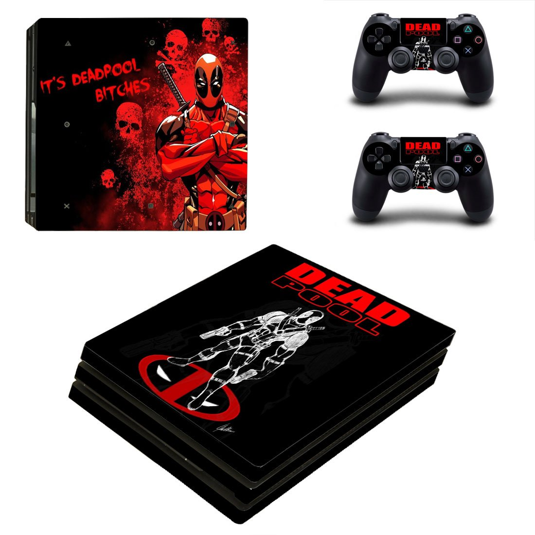Deadpool PS4 Pro Skin Sticker Wrap