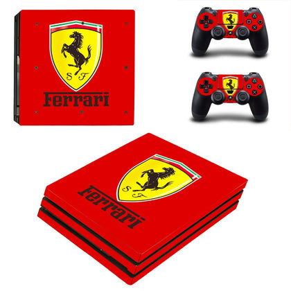 PlayStation PS4 Pro Ferrari Skin Sticker - Popculture Vinyl