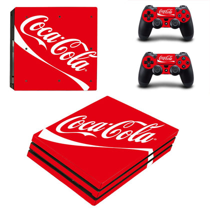 PlayStation PS4 Pro Coca Cola Skin Sticker - Popculture Vinyl
