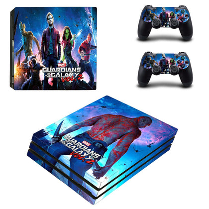 PlayStation PS4 Pro Guardians Of The Galaxy Skin Sticker - Superhero Vinyl