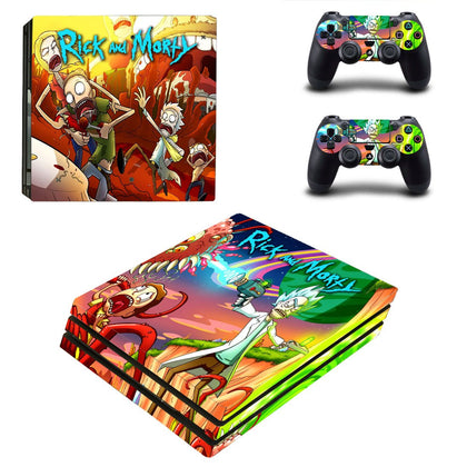 PlayStation PS4 Pro Rick And Morty Skin Sticker - Anime Vinyl