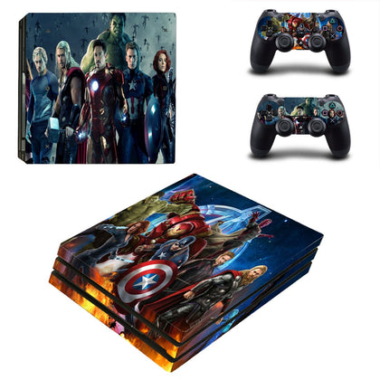PlayStation PS4 Pro Avengers Skin Sticker - Superhero Vinyl