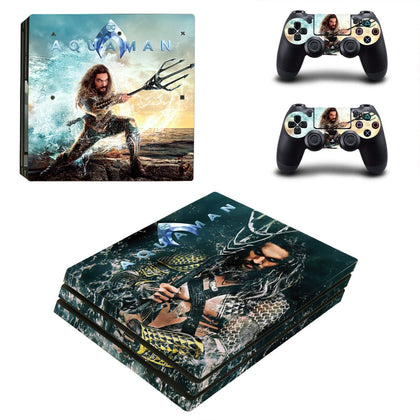 PlayStation PS4 Pro Aquaman Skin Sticker - Superhero Vinyl