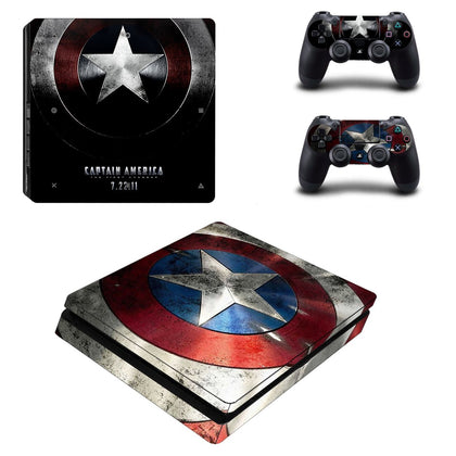 PlayStation PS4 Slim Captain America Skin Sticker - Superhero Vinyl