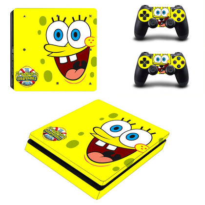 PlayStation PS4 Slim Spongebob Skin Sticker - Anime Vinyl