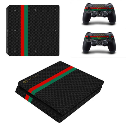 PlayStation PS4 Slim Gucci Classic Gold  Skin Sticker - Popculture Vinyl