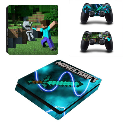 PlayStation PS4 Slim Minecraft Skin Sticker - Game Vinyl
