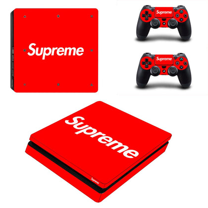 PlayStation PS4 Slim Supreme Skin Sticker - Popculture Vinyl