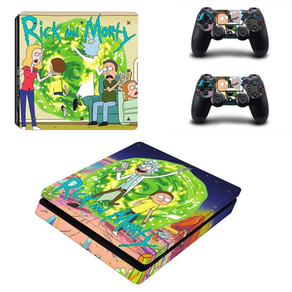 PlayStation PS4 Slim Rick And Morty Skin Sticker - Anime Vinyl