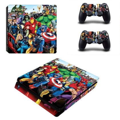 PlayStation PS4 Slim Avengers Skin Sticker - Superhero Vinyl