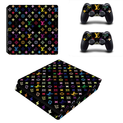 PlayStation PS4 Slim Louis Vuitton Monogram Colour  Skin Sticker - Popculture Vinyl