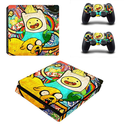 PlayStation PS4 Slim Adventure Time Skin Sticker - Anime Vinyl