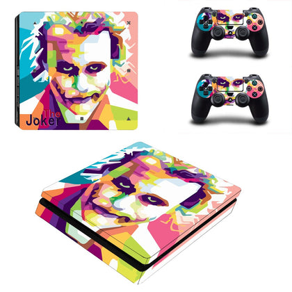 PlayStation PS4 Slim Joker Skin Sticker - Superhero Vinyl