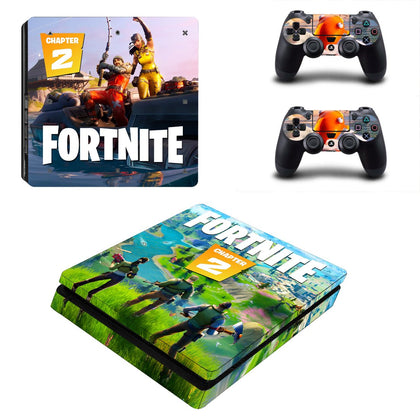 PlayStation PS4 Slim Fortnite Skin Sticker - Game Vinyl
