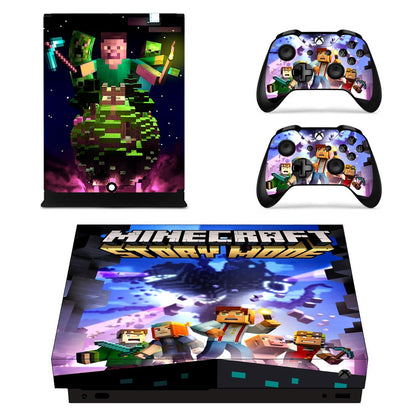 Xbox Xbox One X Minecraft Skin Sticker - Game Vinyl