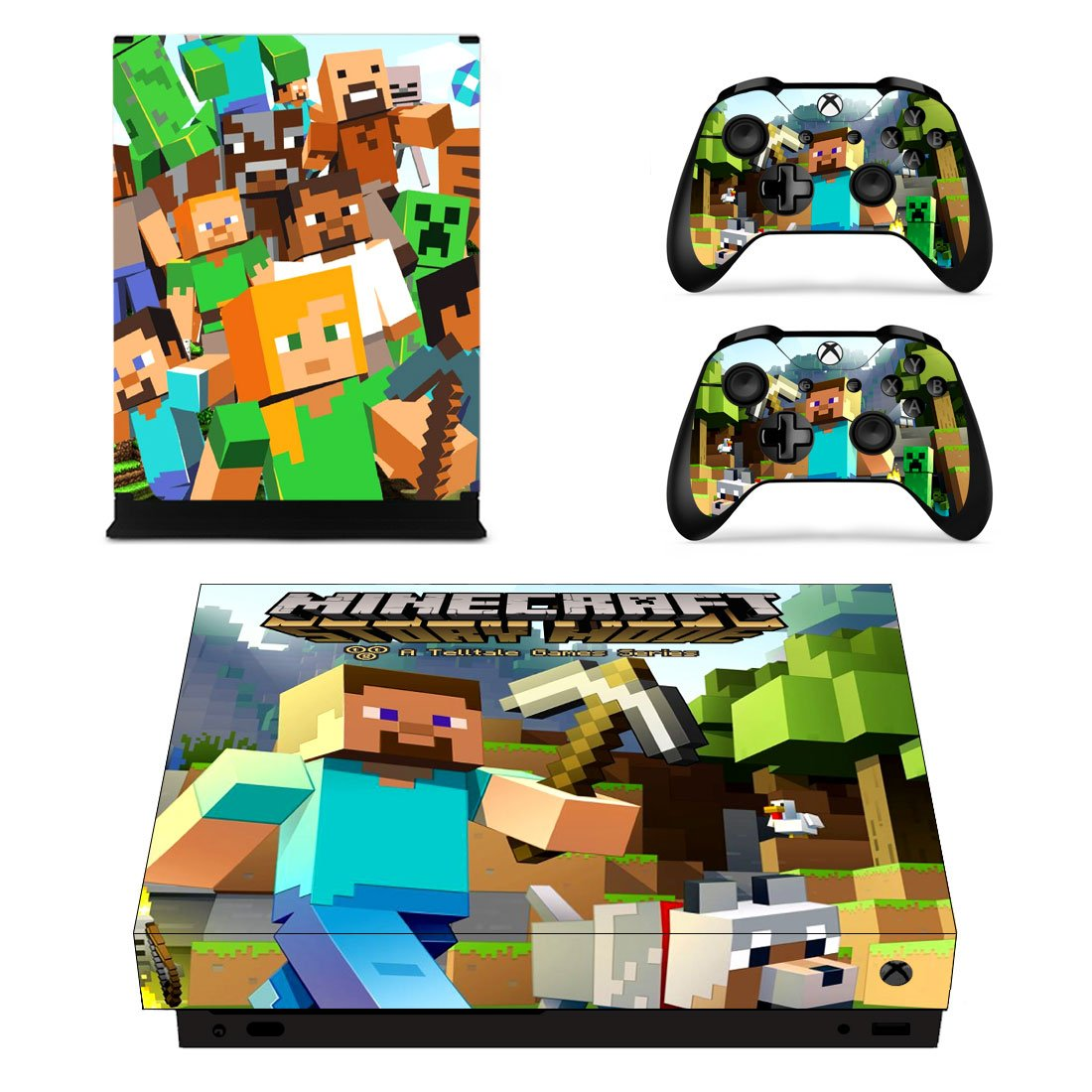 Minecraft Xbox One X Skin Sticker Wrap
