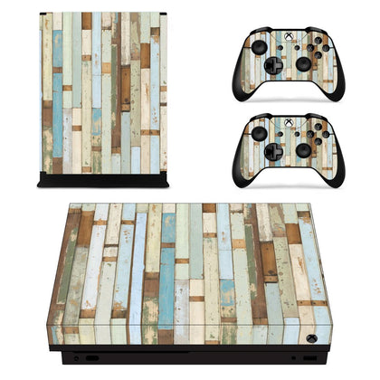 Xbox Xbox One X Wood Skin Sticker - Design Vinyl