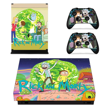 Xbox Xbox One X Rick And Morty Skin Sticker - Anime Vinyl