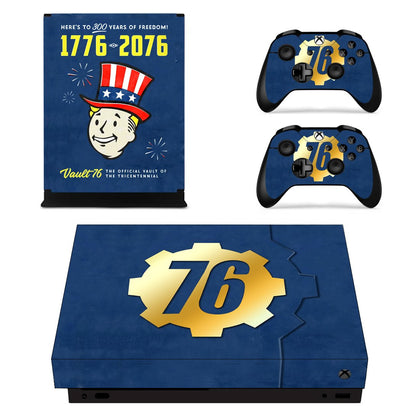 Xbox Xbox One X Fallout Skin Sticker - Game Vinyl
