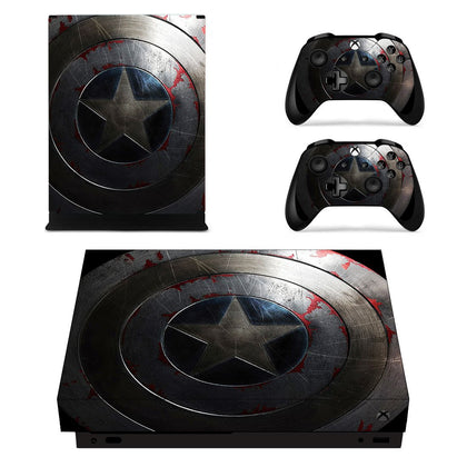 Xbox Xbox One X Captain America Skin Sticker - Superhero Vinyl