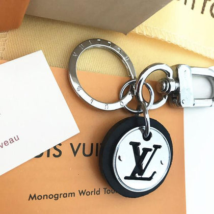 Louis Vuitton LV Keychain Key Ring Strap Leather