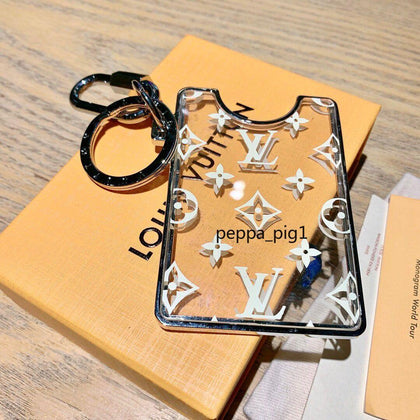 Louis Vuitton Monogram Name Cardholder Keychain Pendant