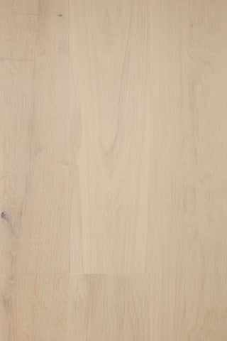 pre-color white hardwood floor with WOCA Diamond Oil in Extra White