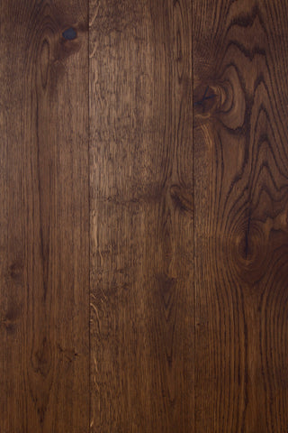 hardwood floor treated with WOCA Diamond Oil in Smoke Brown
