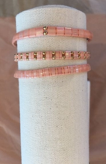 Blush blossom adjustable bracelet