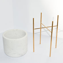 Load image into Gallery viewer, White marble vase with stand
