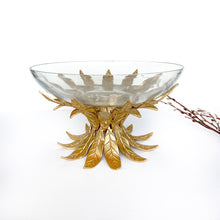 Load image into Gallery viewer, Gold Leaf Brass & Glass Bowl