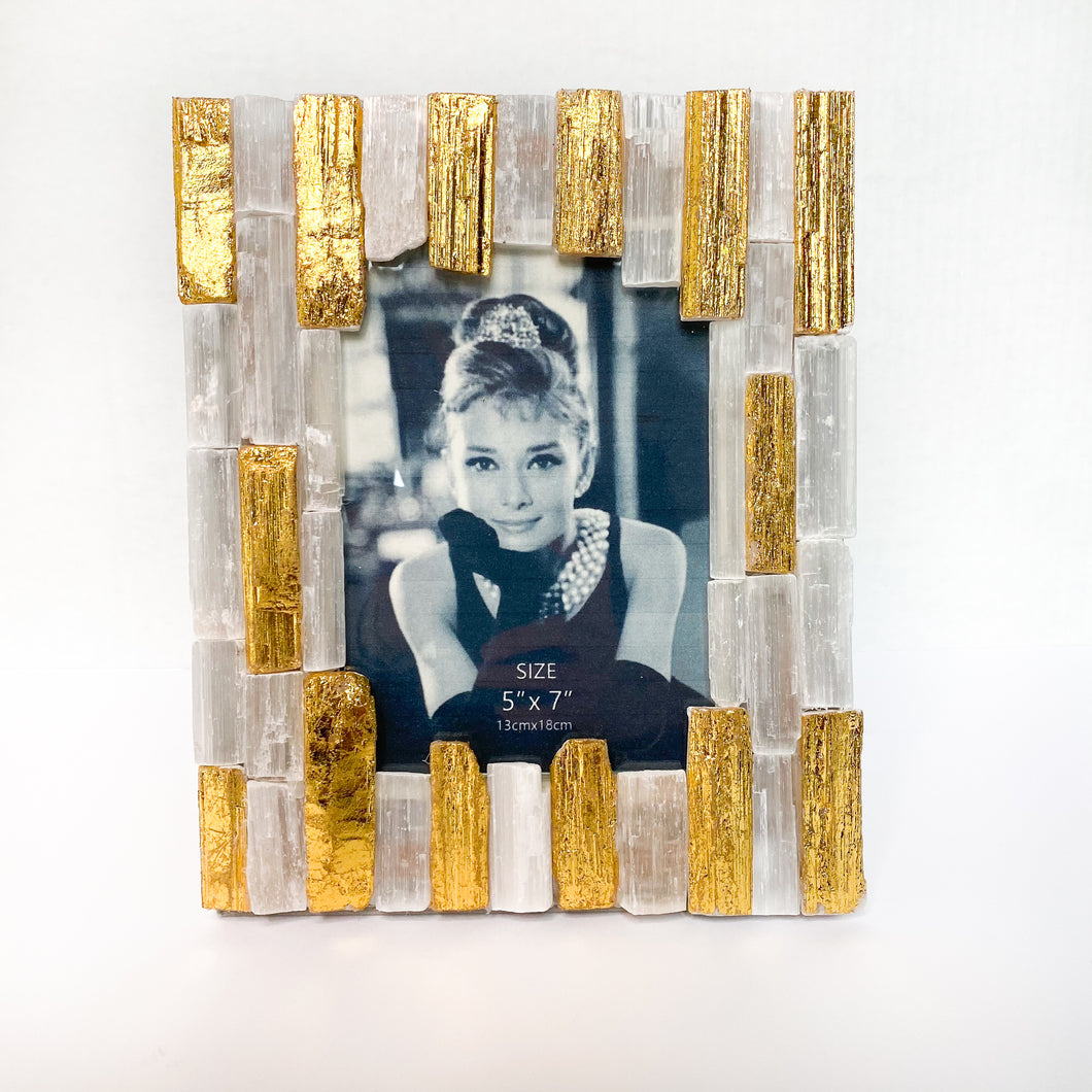 Gold Stone Photo Frame