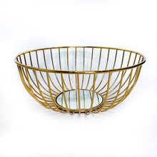 Load image into Gallery viewer, Gold Mirror Basket