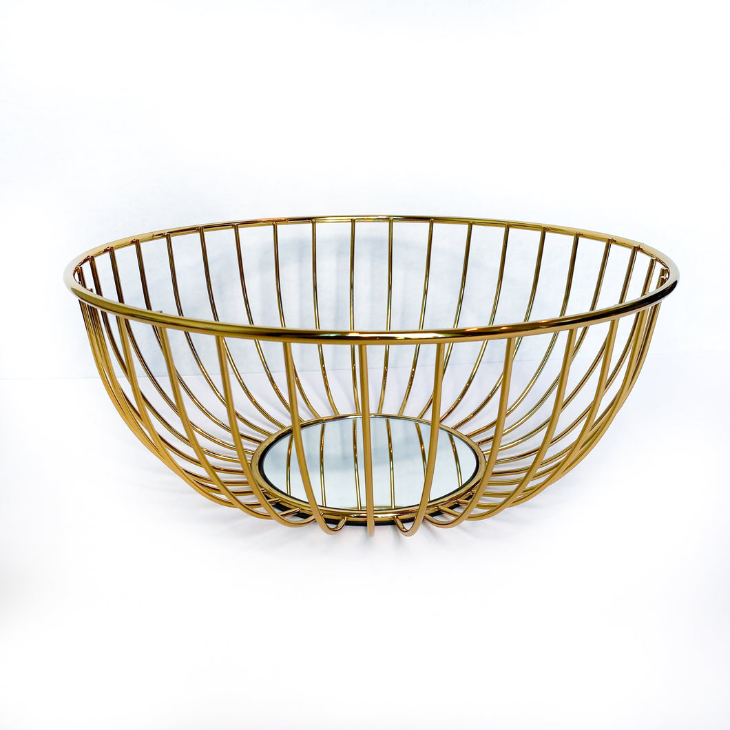 Gold Mirror Basket