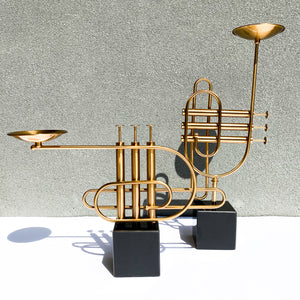 Saxophone Candle Holders