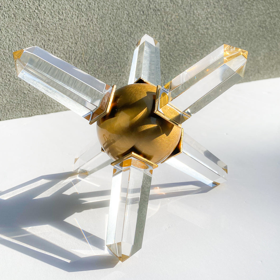 Crystal Gold Sculpture