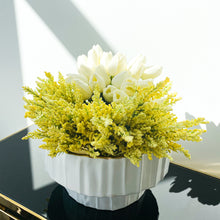 Load image into Gallery viewer, White & Gold Bowl & Vase