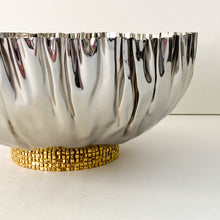 Load image into Gallery viewer, Crumpled Bowl with Gold Mosaic