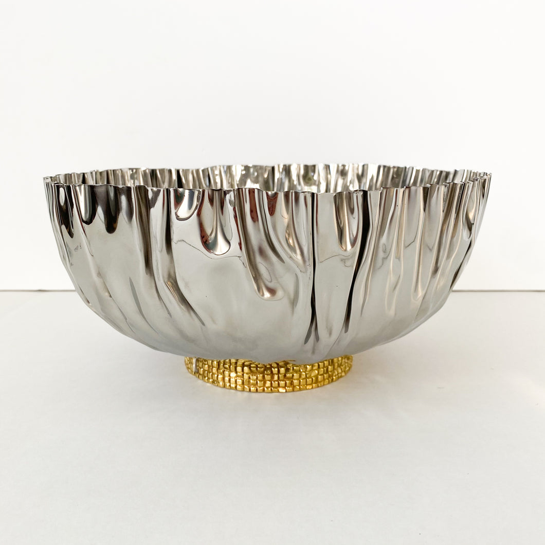 Crumpled Bowl with Gold Mosaic