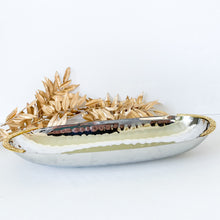 Load image into Gallery viewer, Hammered Long Bowl Gold/ Nickel