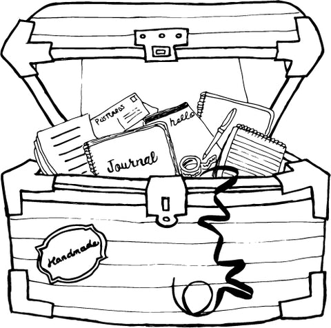 Treasure chest of custom paper goods!