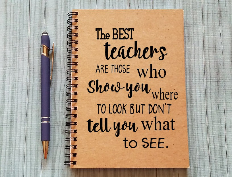 Journal - The best teachers show you where to look but not what to see