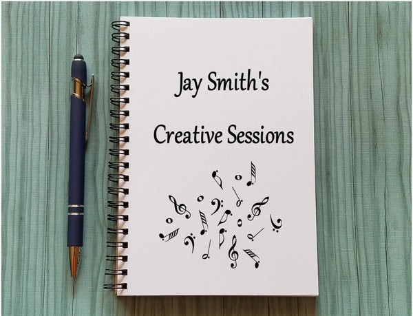 Personalized Music Notebook - Creative Sessions